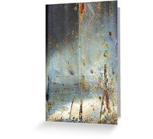 sandy beach at dusk Greeting Card