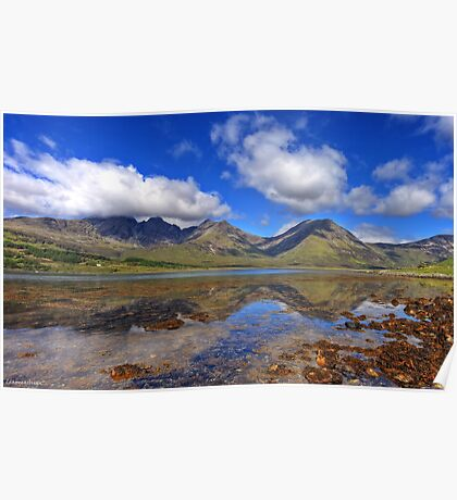Black Cuillin Reflections Poster