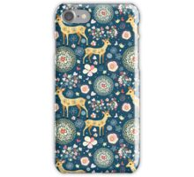 pattern festive reindeer iPhone Case/Skin