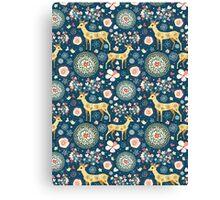 pattern festive reindeer Canvas Print