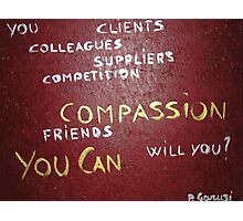 Corporate Compassion Photographic Print