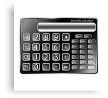 Black calculator Canvas Print