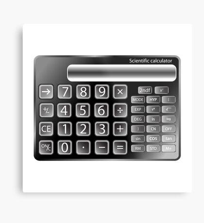 Black calculator Metal Print