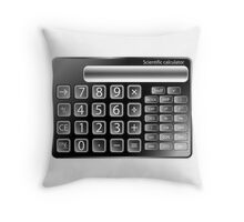 Black calculator Throw Pillow
