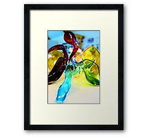 Abstract model Framed Print