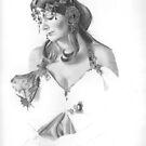 Mucha Lady WIP by Karen Townsend