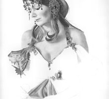 Mucha Lady WIP by Karen Townsend