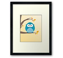 Sweet owl in a tree 2 Framed Print