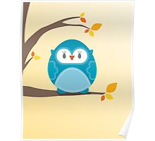 Sweet owl in a tree 2 Poster