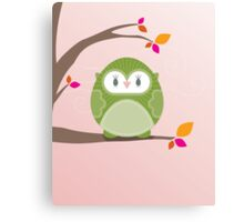 Sweet owl in a tree 3 Canvas Print