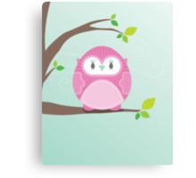 Sweet owl in a tree 4 Canvas Print