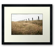 Beyond the fields of gold. Framed Print