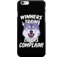 Winners Train Wolf Gym Motivational Quotes Sports  iPhone Case/Skin