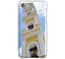 Traditional Mexican Yellow Stonewashed Church Bell Tower iPhone Case/Skin
