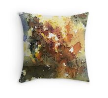Rustica.  Earthy colors and rusted metal textural photographic design Throw Pillow
