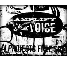 amplify your voice Photographic Print