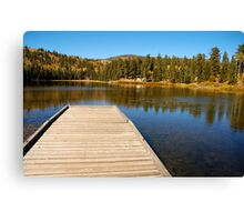 Posey Lake in the fall. Canvas Print