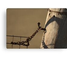 Old Gatepost Canvas Print