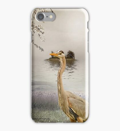 Great Blue Heron at Dusk iPhone Case/Skin