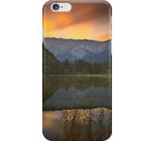 Sunset at Lake Dürrsee in Summer iPhone Case/Skin