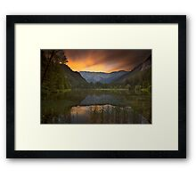 Sunset at Lake Dürrsee in Summer Framed Print