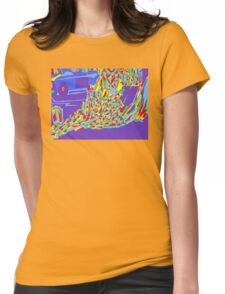 Burning Monk Womens Fitted T-Shirt