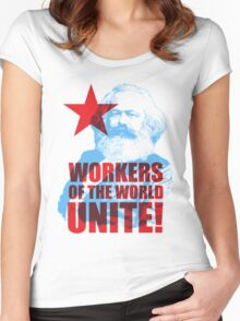 Karl Marx Workers of the World Unite! Women's Fitted Scoop T-Shirt