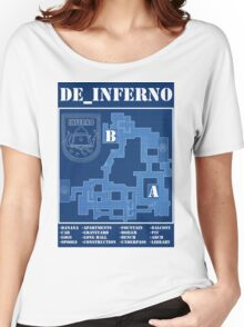 CSGO DE_INFERNO Women's Relaxed Fit T-Shirt