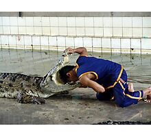 Crocodile farm in Thailand 6 Photographic Print