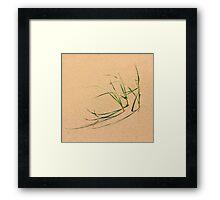Grassy Shadows Framed Print