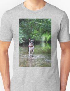Portrait of Meryl, the Boston Terrier Unisex T-Shirt