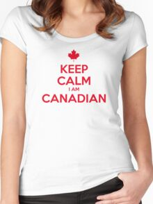 KEEP CALM I AM CANADIAN Women's Fitted Scoop T-Shirt