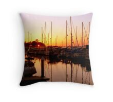 Orange Over Water Throw Pillow