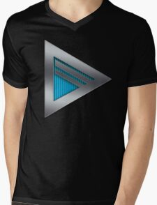 Dragons Logo - Cyan Mens V-Neck T-Shirt