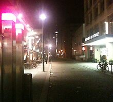 Berlin Streets at Night by Chris Blyth