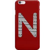 'N' Patterned Monogram iPhone Case/Skin