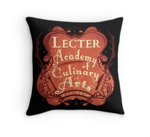 Lecter Academy of Culinary Arts (2) Throw Pillow