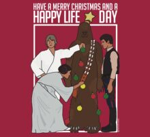 Star Wars Christmas Sweater - Merry Christmas and a Happy Life Day by HelloGreedo