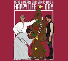 Star Wars Christmas Sweater - Merry Christmas and a Happy Life Day Long Sleeve T-Shirt