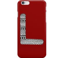 'L' Patterned Monogram iPhone Case/Skin