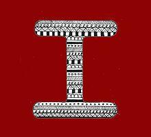 'I' Patterned Monogram by tadvani