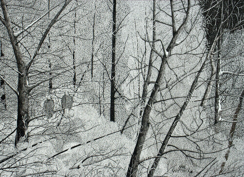 Frosty Perch (Full) by Mike Wytinck