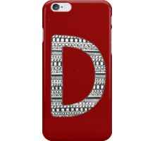 'D' Patterned Monogram iPhone Case/Skin