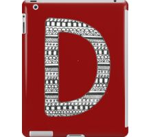 'D' Patterned Monogram iPad Case/Skin