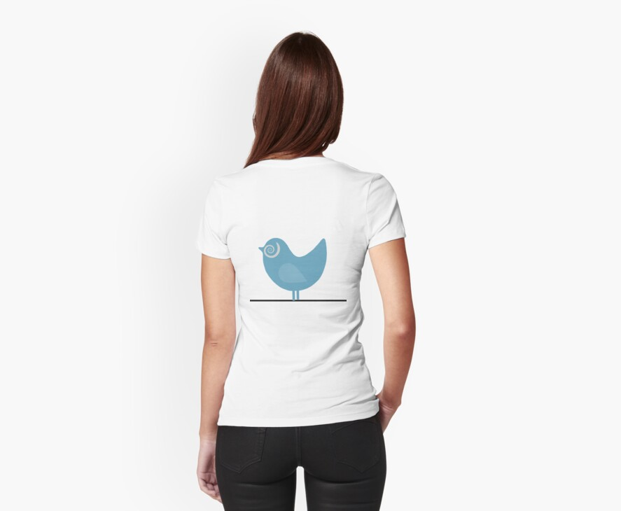 Bird on a Wire T Shirt by simpsonvisuals
