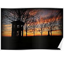 Indian Tower Sunset Poster