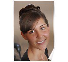 Portrait of wedding hair. Poster