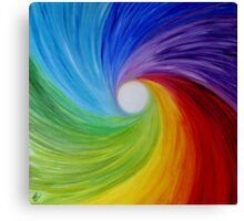 "Fine art. Abstract painting. Oil.""Rainbow MOOD"" :) Canvas Print"