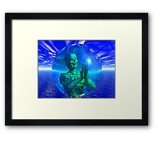 Monster in a Bubble Framed Print