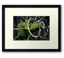 The Wheel of the Cart Doesn't Go Round and Round Framed Print